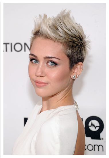 Miley Cryus at the Oscars rocks a edgy look