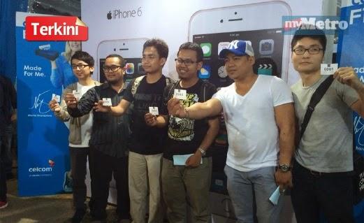 Celcom Menjual iPhone 6 Dengan Harga RM6 Kepada 6 Orang Pembeli Terawal
