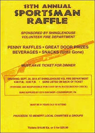 9-20 13th Annual Sportsman Raffle