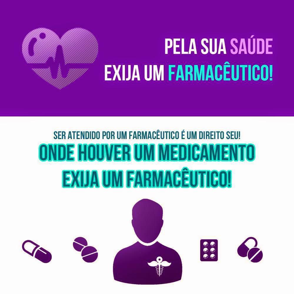 Pela sua saúde, exija um farmacêutico. Ser atendido por um farmacêutico é um direito seu. Onde houver um medicamento exija um farmacêutico