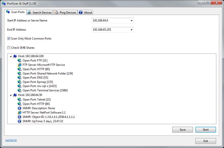 برنامج مجاني لعرض معلومات تفصيلية عن الشبكة والراوتر والأجهزة المتصلة به PortScan 1.46