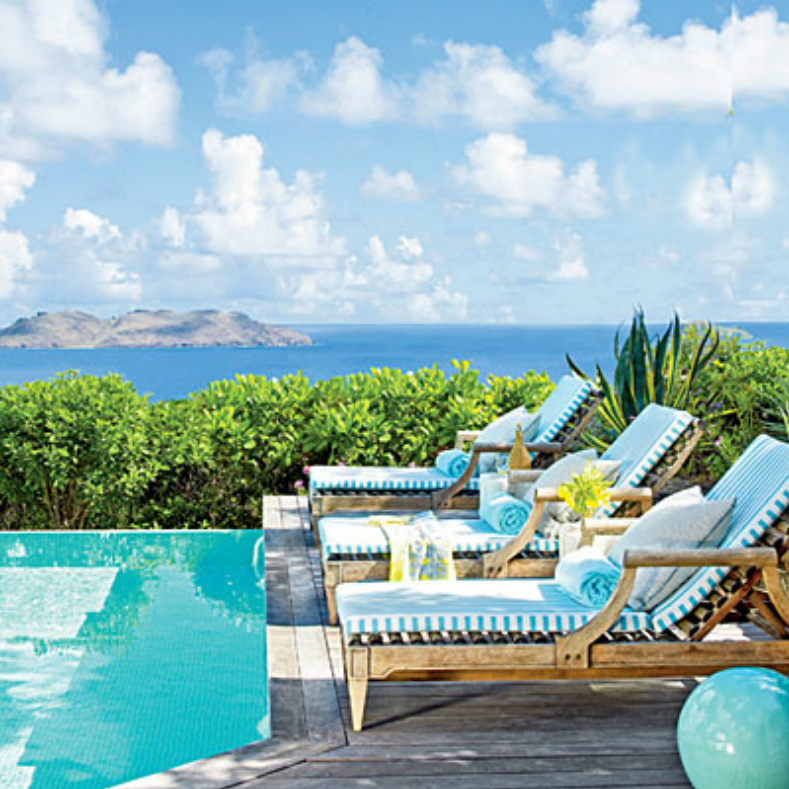 Coastal home spotted from the crow 39 s nest beach house for St barts tours