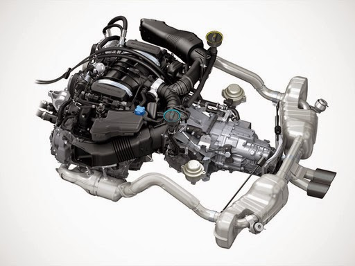 Porsche Cayman GT4 2016 engine