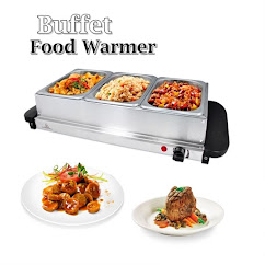 Food warmer 3 tray (stainless steel)