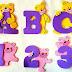 Moldes EVA alfabeto ursinho