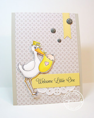 Welcome Little One card-designed by Lori Tecler/Inking Aloud-stamps and dies from SugarPea Designs