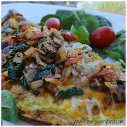Spinach & Tomato Veggie Omelet