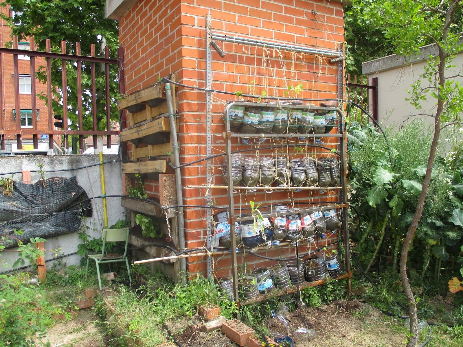 En torno al huerto plantas en el huerto vertical for Imagenes del huerto vertical