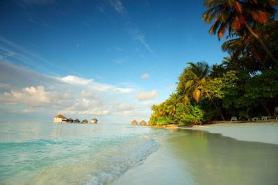 Playas de arenas blancas en las Islas Maldivas