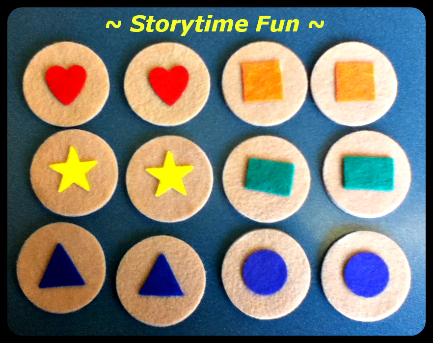 Make your own shapes matching game like Storytime ABC's