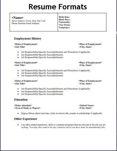 Resume Types 5109217 Resume Types Three. Resume Format Types. Best