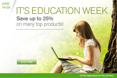 25% OFF Education Week Specials