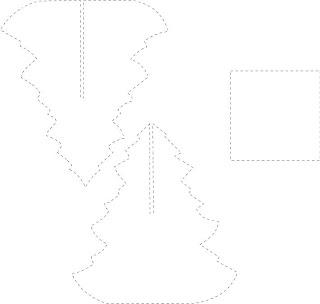 molde para recortar arbol en 3d para navidad