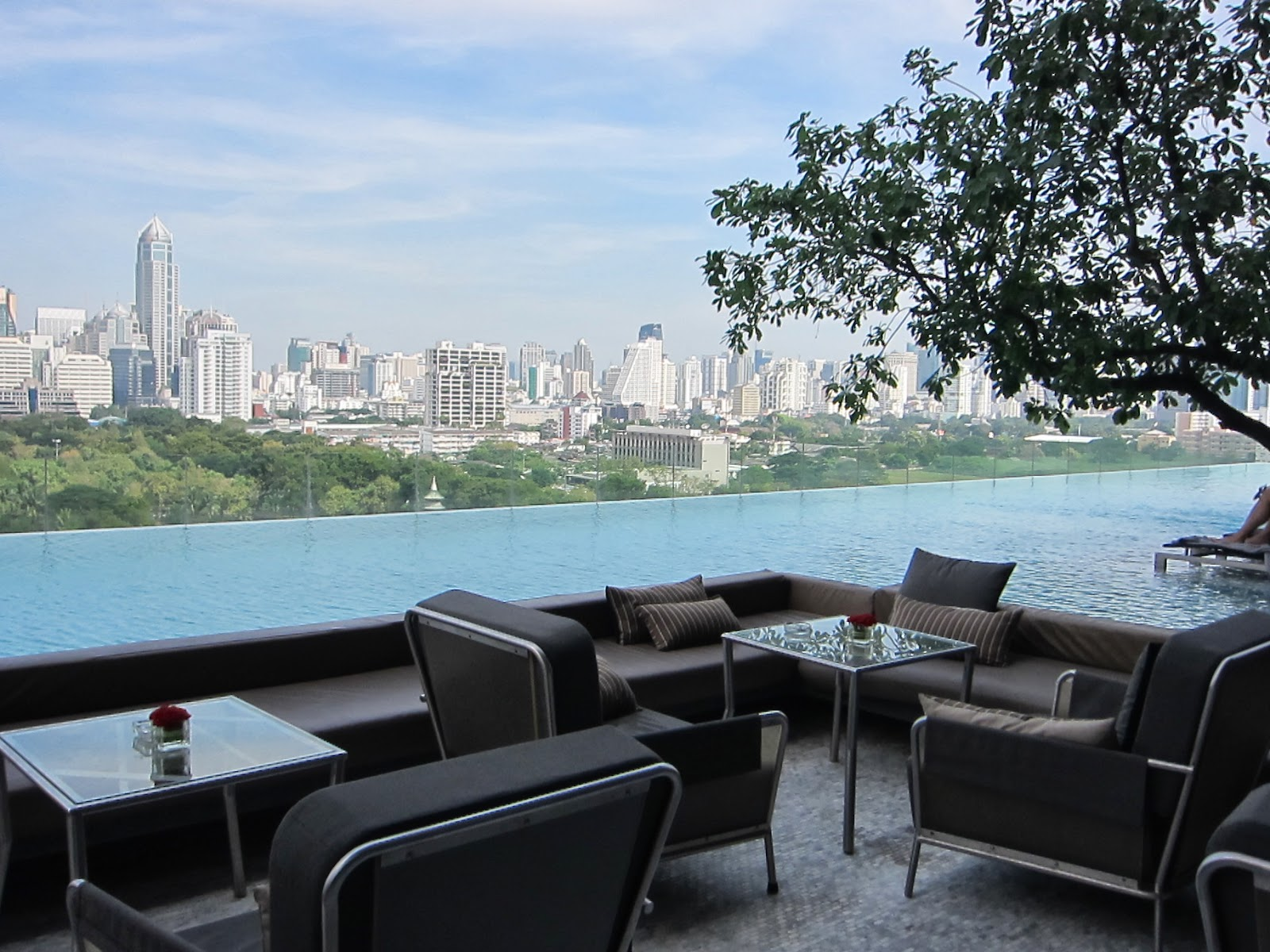 Chilling on the roof with a view at The Water Club Bar - Sofitel So ...