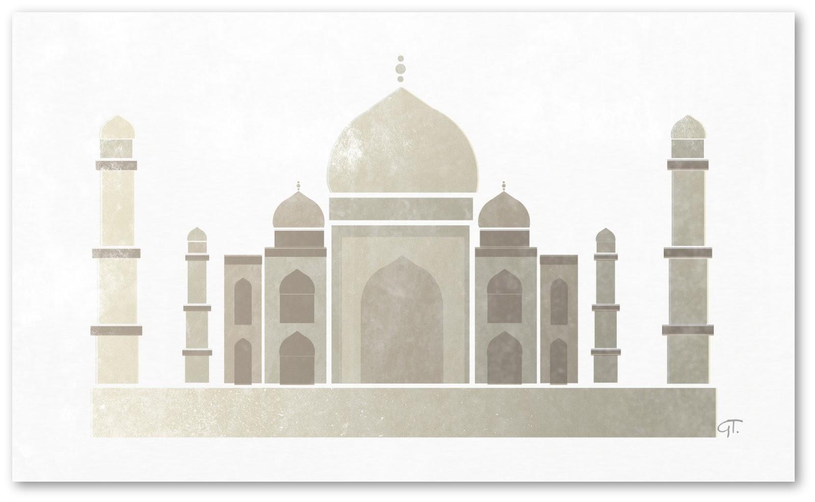 Taj Mahal Cake Design