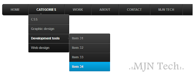 CSS3 Multi Level Drop Down Menu