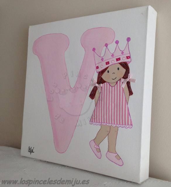 Los pinceles de miju cuadros infantiles personalizados y originales lienzos - Cuadros para habitaciones de ninas ...