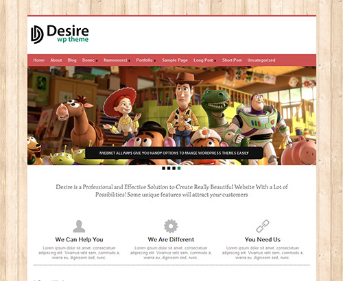 desire web design wordpress theme 30 Ücretli Ücretsiz WordPress Teması