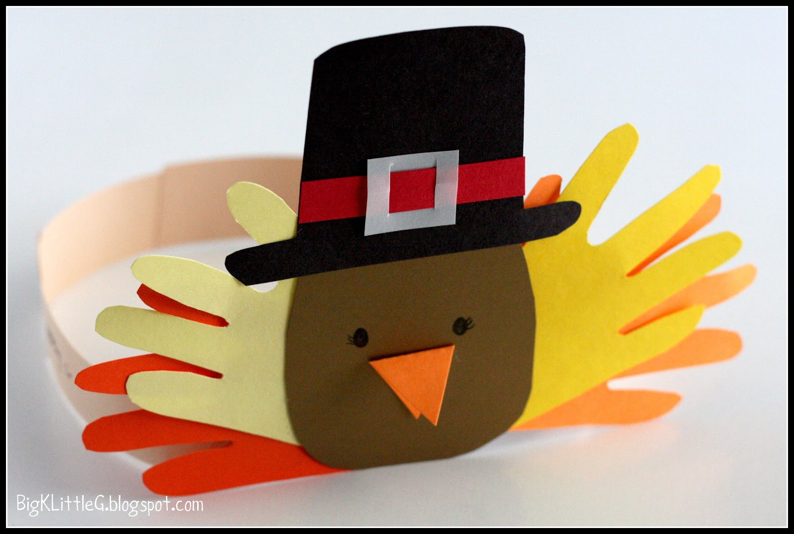 big k little g thanksgiving pilgrim and indian turkey headband hats. Black Bedroom Furniture Sets. Home Design Ideas