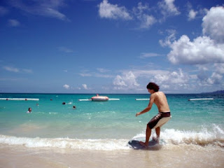 skimboarding Okuma Beach Okinawa
