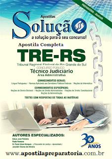 Apostila impressa TRE - RS 2015 cargo Técnico Judiciário