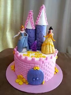 Cake Decorating Plastic Figurines : Eunice Home Bake (Klang): Princess Themed Cake