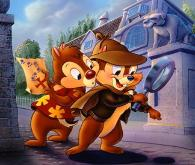 Wallpaper cartoon Chip and Dale