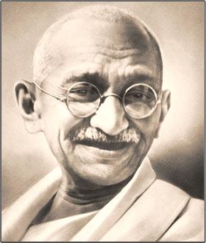 Frases Ilustradas de Mahatma Gandhi.