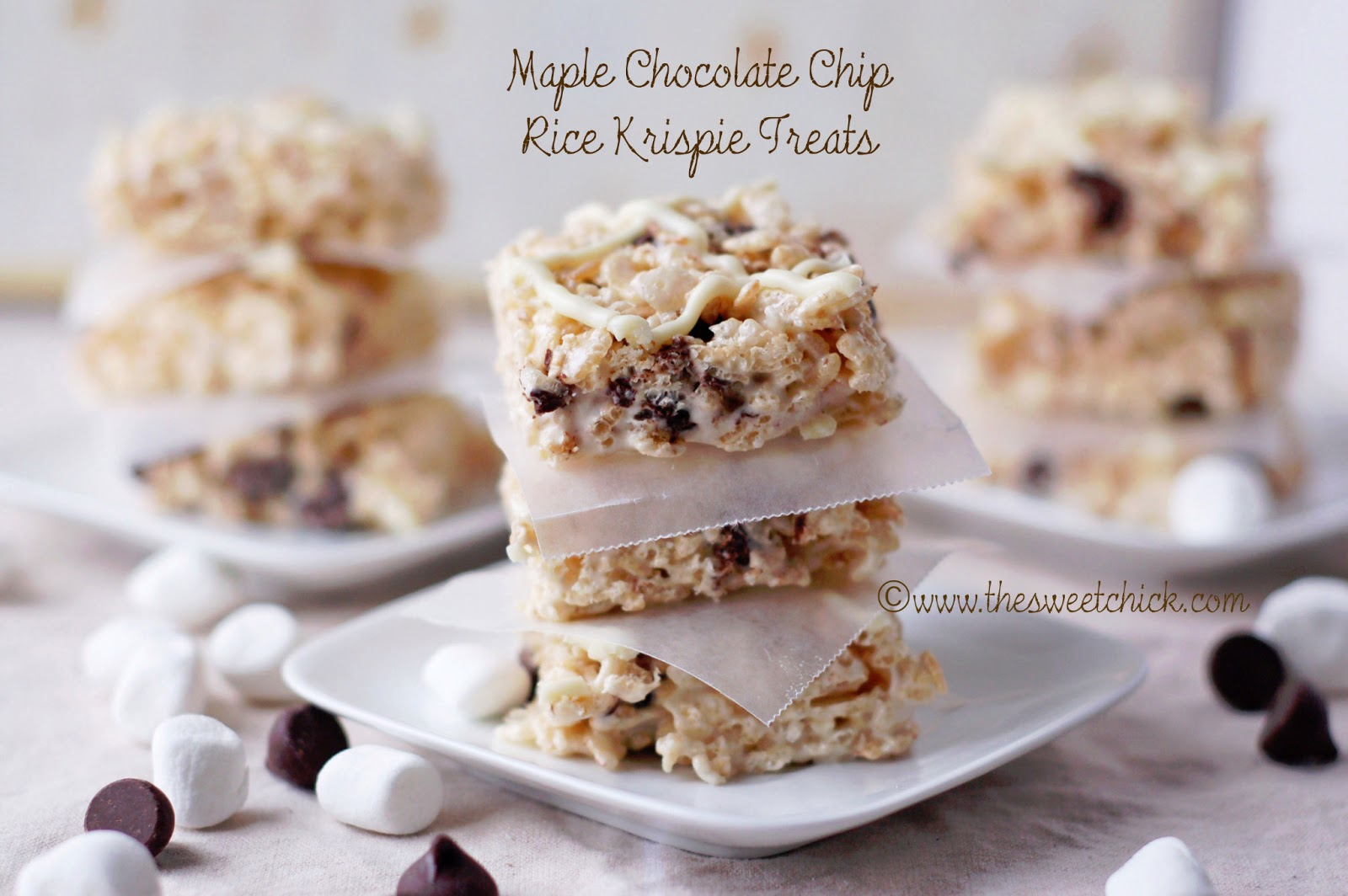 The Sweet Chick: Maple Chocolate Chip Rice Krispie Treats