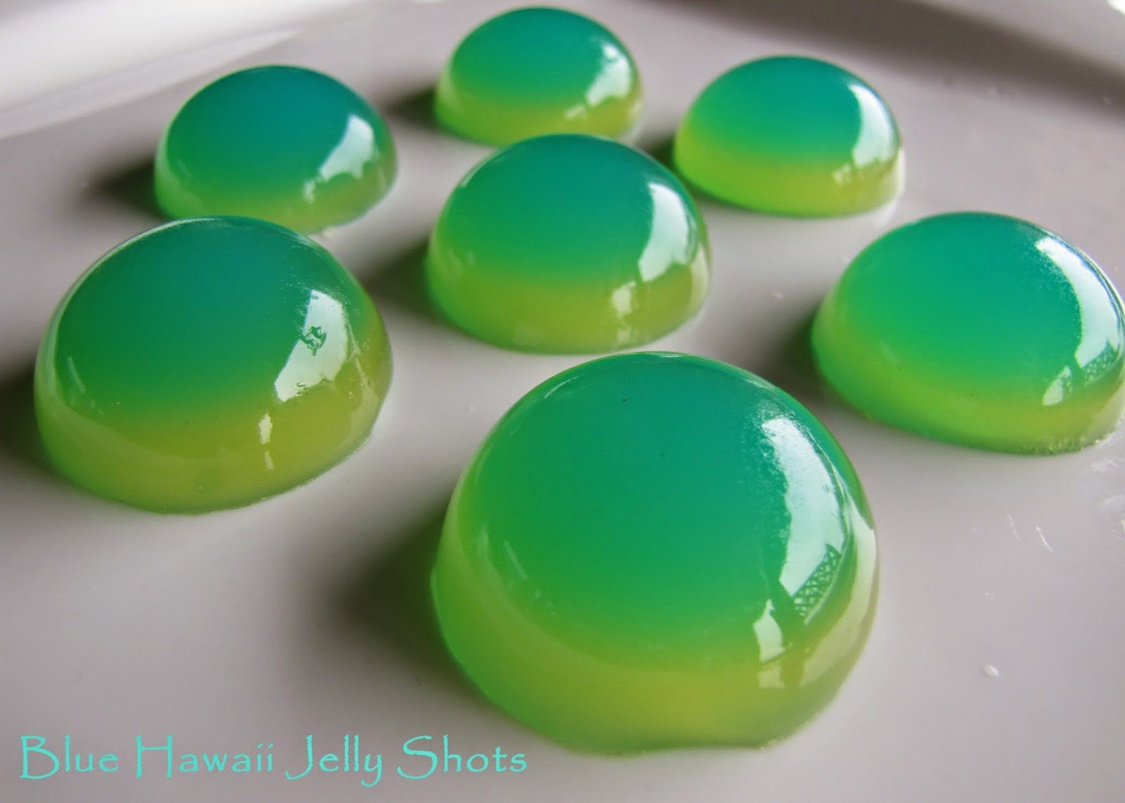 Blue Hawaii Jelly Shots Recipe — Dishmaps