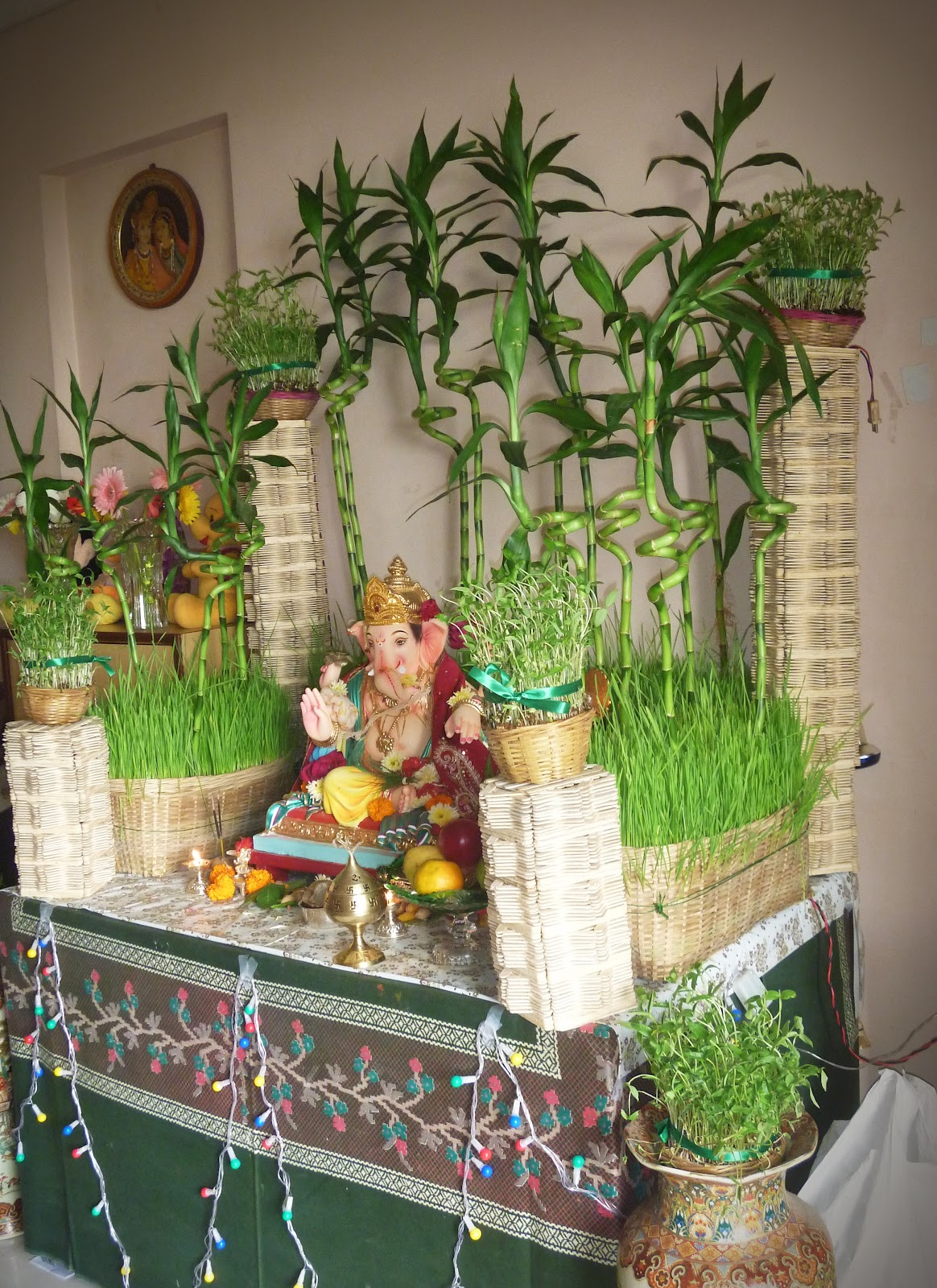 Ecobappa for Background decoration for ganpati