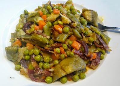 Panaché De Verduras Hervidas Con O Sin Jamón