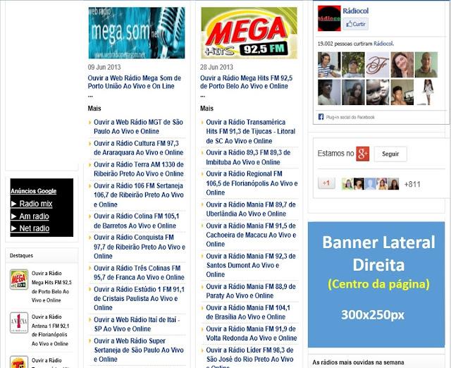 Banner 300x250 no site Rádiocol