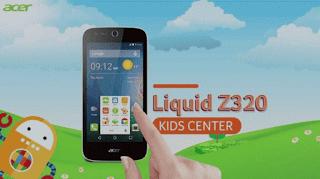 Acer Z320 Fitur Kids Center