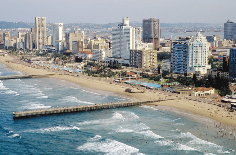 Durban South Africa  City pictures : Tourism: Durban Beach South Africa
