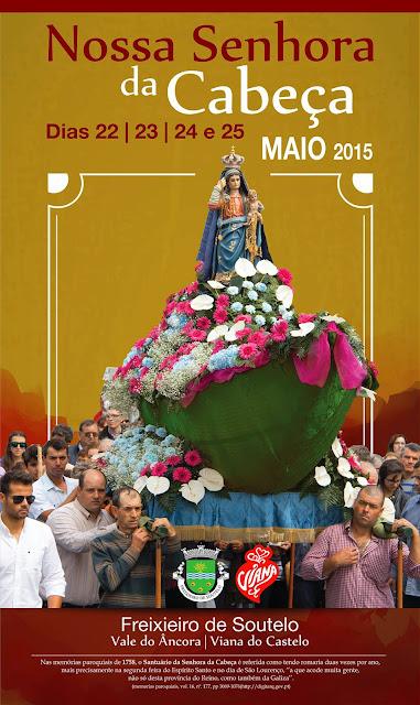 Cartaz da Festa da Sra da Cabeça em Freixieiro de Soutelo 2015