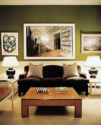 Delightful Here The Olive Wall Is A Good Backdrop Choice For The Neutral Furnishings  And Accessories.