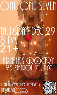 One One Seven: Long Island Modern Rock Band Makes Their NYC Debut with a Show at Arlene's Grocery on Dec. 29th