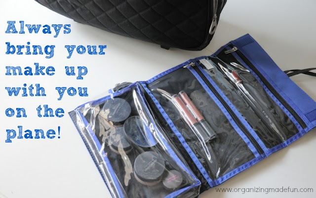 Always bring your make up with you | OrganizingMadeFun.com