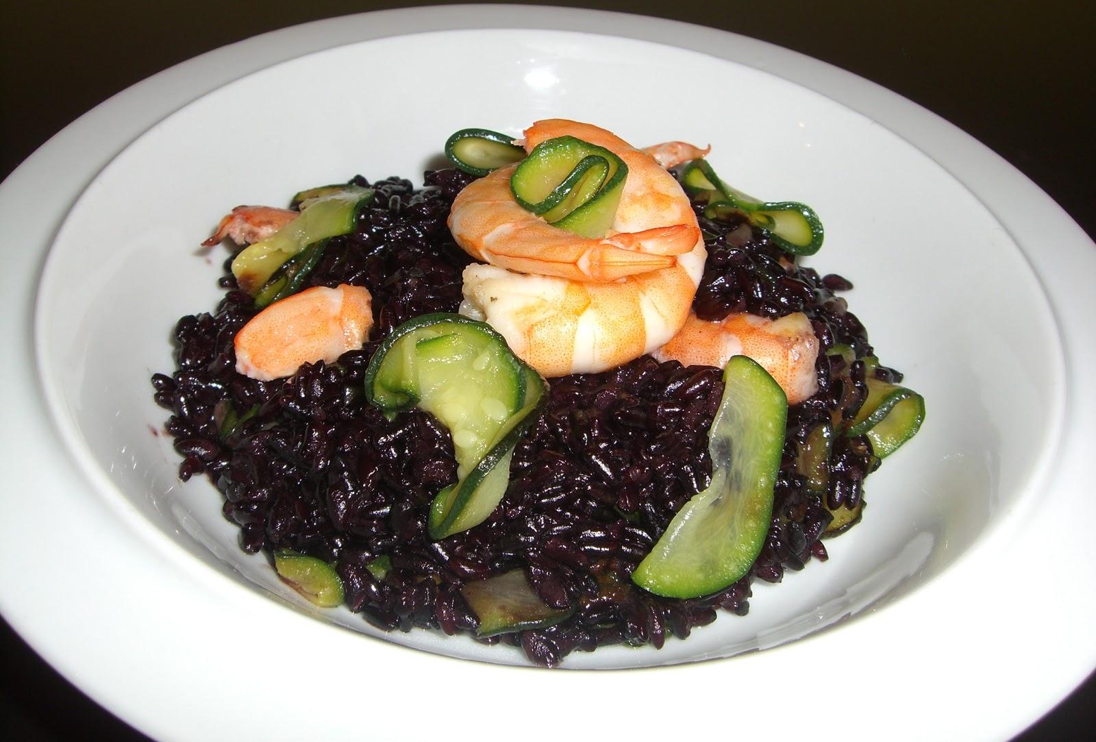 Cucinare assaporare bere e dintorni riso venere con gamberi e zucchine - Cucinare riso venere ...