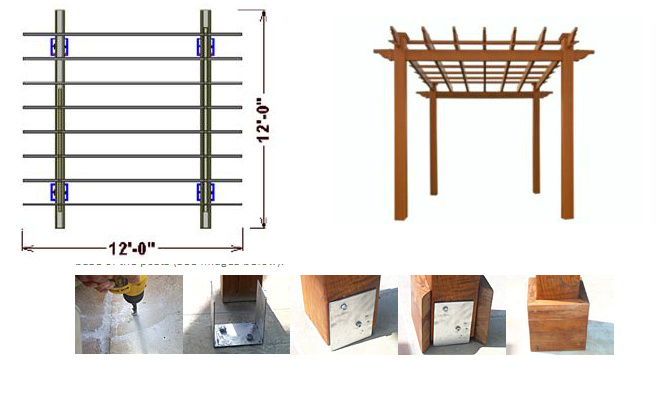 plans pergolas with roofs