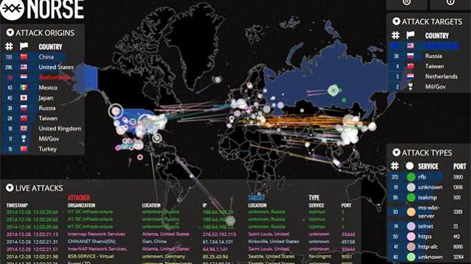 Situs Ini Tampilkan Aksi Peretas dan Kawasan yang Diserang secara Real Time
