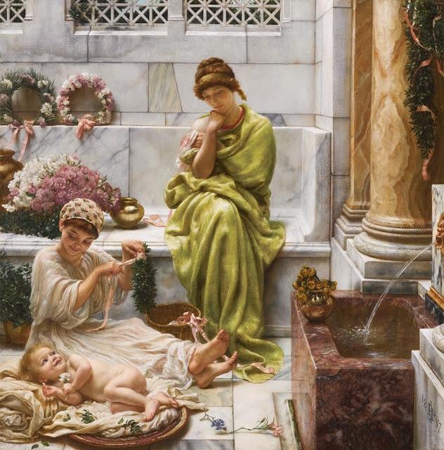 Edward Poynter, genre painting,classical realism