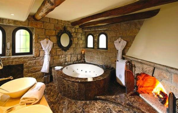 Baños Acabados Rusticos:Los acabados en fierro forjado son elementos que acentúan el estilo
