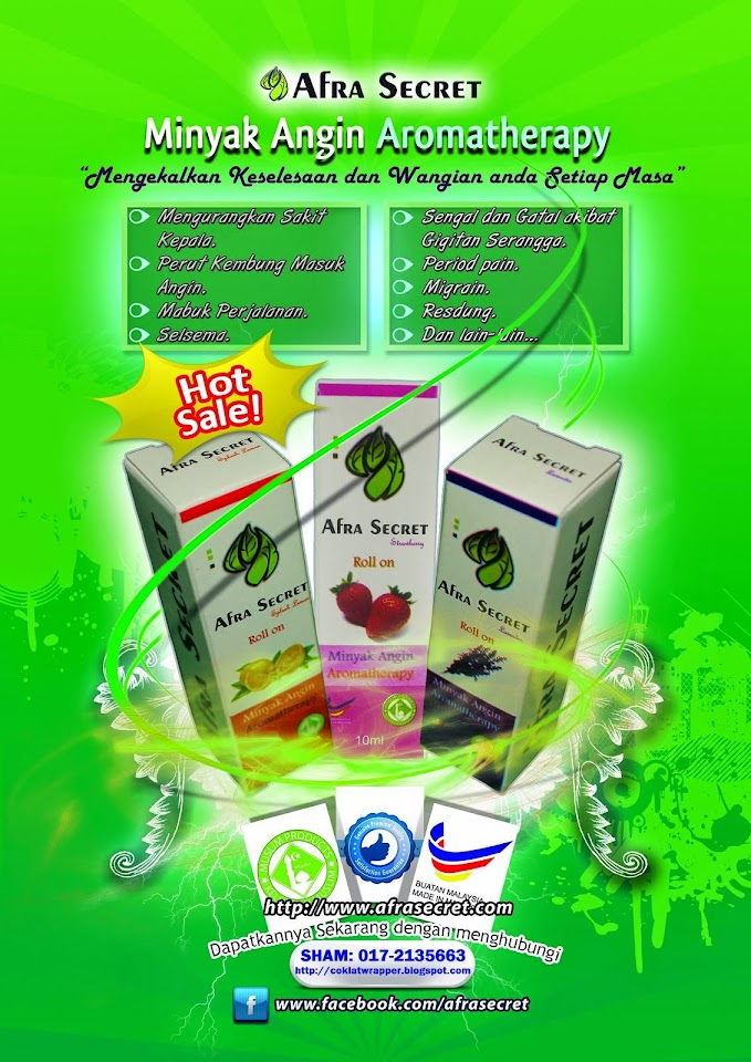 Minyak Angin Aromatherapy. Sham 017-2135663