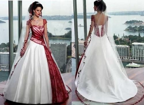 Female Fashion About Red Burgundy Wedding Dress