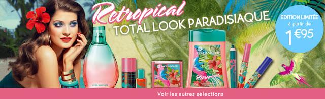 Yves Rocher: nouvelle gamme Retropical  + code promo
