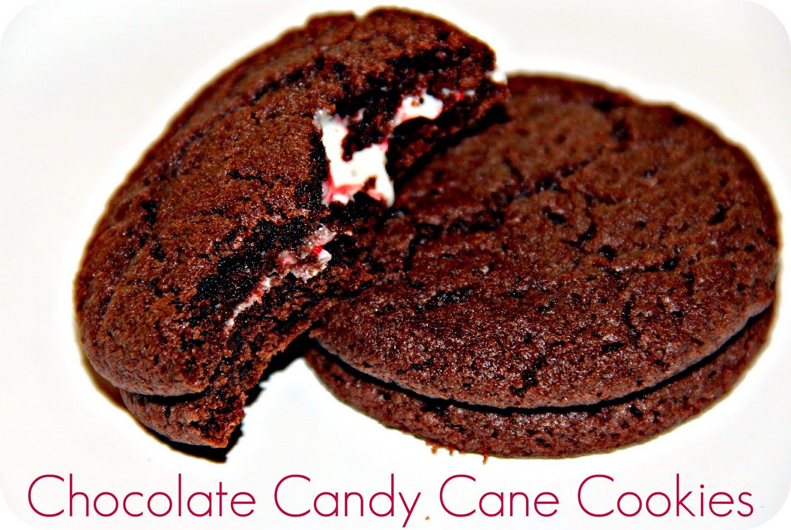 Blue Skies Ahead: Chocolate Candy Cane Cookies