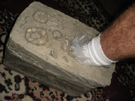 Image result for cement shoes pics