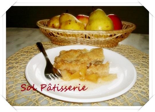 Cromble de pera e maçã com aveia